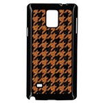 HOUNDSTOOTH1 BLACK MARBLE & RUSTED METAL Samsung Galaxy Note 4 Case (Black) Front