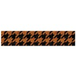 HOUNDSTOOTH1 BLACK MARBLE & RUSTED METAL Flano Scarf (Small) Front