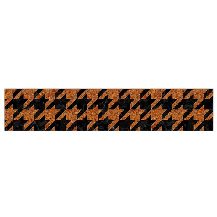 HOUNDSTOOTH1 BLACK MARBLE & RUSTED METAL Flano Scarf (Small)