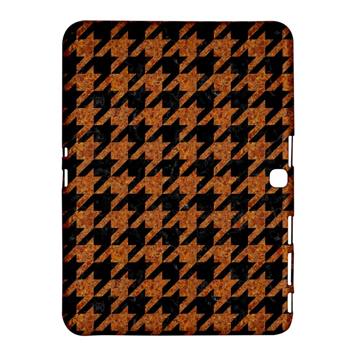 HOUNDSTOOTH1 BLACK MARBLE & RUSTED METAL Samsung Galaxy Tab 4 (10.1 ) Hardshell Case