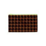 HOUNDSTOOTH1 BLACK MARBLE & RUSTED METAL Cosmetic Bag (XS) Front