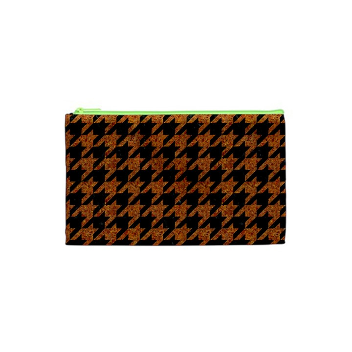 HOUNDSTOOTH1 BLACK MARBLE & RUSTED METAL Cosmetic Bag (XS)