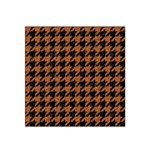 HOUNDSTOOTH1 BLACK MARBLE & RUSTED METAL Satin Bandana Scarf Front