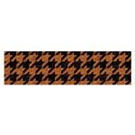 HOUNDSTOOTH1 BLACK MARBLE & RUSTED METAL Satin Scarf (Oblong) Front