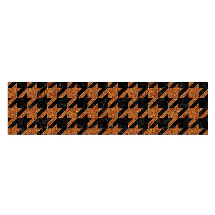 HOUNDSTOOTH1 BLACK MARBLE & RUSTED METAL Satin Scarf (Oblong)
