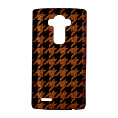 Houndstooth1 Black Marble & Rusted Metal Lg G4 Hardshell Case