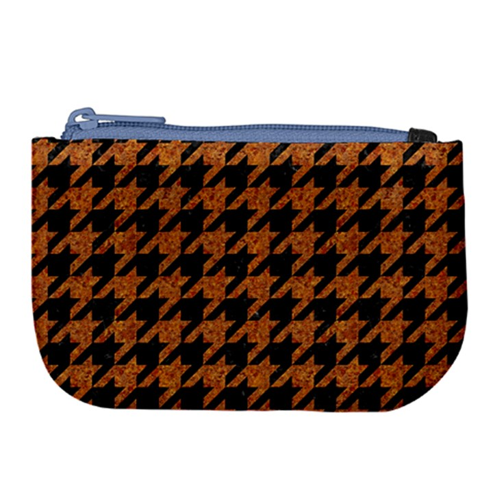 HOUNDSTOOTH1 BLACK MARBLE & RUSTED METAL Large Coin Purse