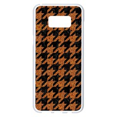 Houndstooth1 Black Marble & Rusted Metal Samsung Galaxy S8 Plus White Seamless Case