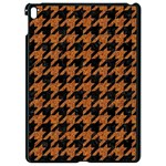 HOUNDSTOOTH1 BLACK MARBLE & RUSTED METAL Apple iPad Pro 9.7   Black Seamless Case Front