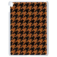 Houndstooth1 Black Marble & Rusted Metal Apple Ipad Pro 9 7   White Seamless Case