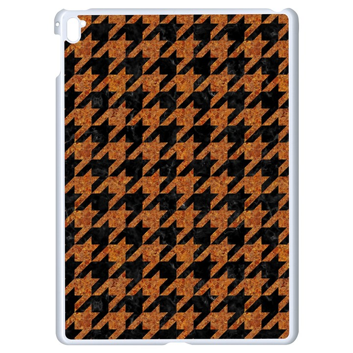 HOUNDSTOOTH1 BLACK MARBLE & RUSTED METAL Apple iPad Pro 9.7   White Seamless Case