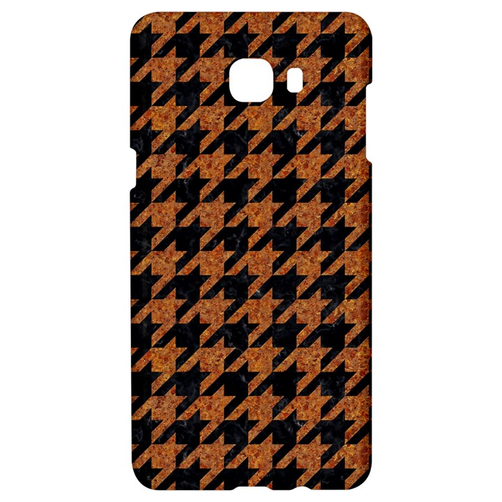 HOUNDSTOOTH1 BLACK MARBLE & RUSTED METAL Samsung C9 Pro Hardshell Case