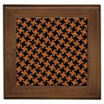 HOUNDSTOOTH2 BLACK MARBLE & RUSTED METAL Framed Tiles Front