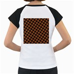 HOUNDSTOOTH2 BLACK MARBLE & RUSTED METAL Women s Cap Sleeve T Back