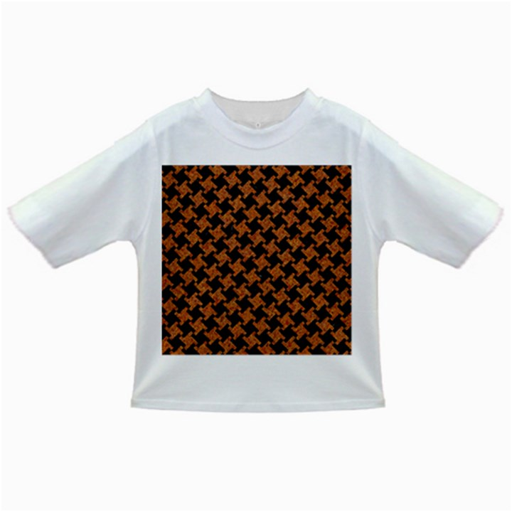 HOUNDSTOOTH2 BLACK MARBLE & RUSTED METAL Infant/Toddler T-Shirts