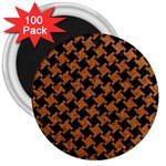 HOUNDSTOOTH2 BLACK MARBLE & RUSTED METAL 3  Magnets (100 pack) Front
