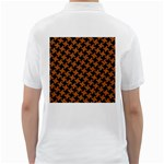 HOUNDSTOOTH2 BLACK MARBLE & RUSTED METAL Golf Shirts Back