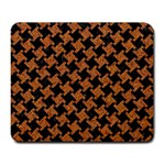 HOUNDSTOOTH2 BLACK MARBLE & RUSTED METAL Large Mousepads Front