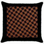 HOUNDSTOOTH2 BLACK MARBLE & RUSTED METAL Throw Pillow Case (Black) Front
