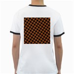 HOUNDSTOOTH2 BLACK MARBLE & RUSTED METAL Ringer T-Shirts Back