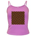 HOUNDSTOOTH2 BLACK MARBLE & RUSTED METAL Dark Spaghetti Tank Front