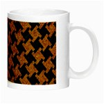 HOUNDSTOOTH2 BLACK MARBLE & RUSTED METAL Night Luminous Mugs Right