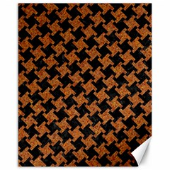 Houndstooth2 Black Marble & Rusted Metal Canvas 16  X 20
