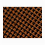 HOUNDSTOOTH2 BLACK MARBLE & RUSTED METAL Small Glasses Cloth (2-Side) Front