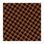 HOUNDSTOOTH2 BLACK MARBLE & RUSTED METAL Medium Glasses Cloth Front