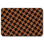 HOUNDSTOOTH2 BLACK MARBLE & RUSTED METAL Large Doormat  30 x20 Door Mat - 1