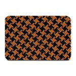 HOUNDSTOOTH2 BLACK MARBLE & RUSTED METAL Plate Mats 18 x12 Plate Mat - 1