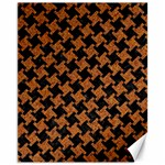 HOUNDSTOOTH2 BLACK MARBLE & RUSTED METAL Canvas 11  x 14   14 x11 Canvas - 1