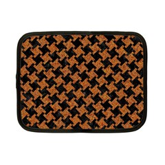 Houndstooth2 Black Marble & Rusted Metal Netbook Case (small)