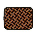 HOUNDSTOOTH2 BLACK MARBLE & RUSTED METAL Netbook Case (Small)  Front