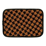 HOUNDSTOOTH2 BLACK MARBLE & RUSTED METAL Netbook Case (Medium)  Front