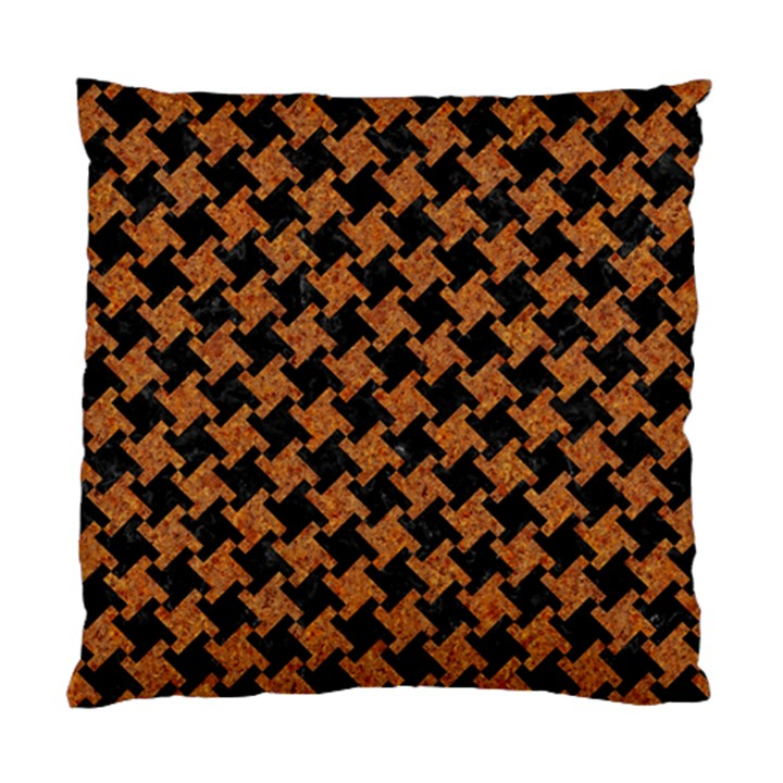 HOUNDSTOOTH2 BLACK MARBLE & RUSTED METAL Standard Cushion Case (Two Sides)