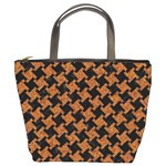 HOUNDSTOOTH2 BLACK MARBLE & RUSTED METAL Bucket Bags Front