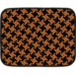 HOUNDSTOOTH2 BLACK MARBLE & RUSTED METAL Double Sided Fleece Blanket (Mini)  35 x27 Blanket Front