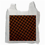 HOUNDSTOOTH2 BLACK MARBLE & RUSTED METAL Recycle Bag (Two Side)  Back