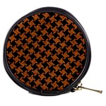 HOUNDSTOOTH2 BLACK MARBLE & RUSTED METAL Mini Makeup Bags Front
