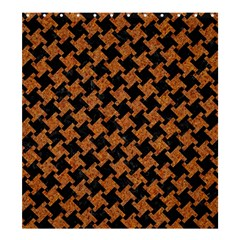 Houndstooth2 Black Marble & Rusted Metal Shower Curtain 66  X 72  (large)
