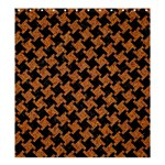 HOUNDSTOOTH2 BLACK MARBLE & RUSTED METAL Shower Curtain 66  x 72  (Large)  58.75 x64.8 Curtain
