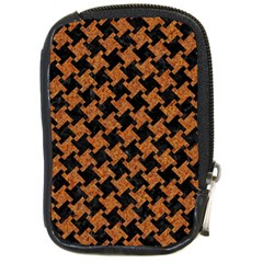 Houndstooth2 Black Marble & Rusted Metal Compact Camera Cases