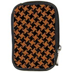 HOUNDSTOOTH2 BLACK MARBLE & RUSTED METAL Compact Camera Cases Front