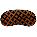 HOUNDSTOOTH2 BLACK MARBLE & RUSTED METAL Sleeping Masks Front