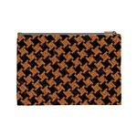 HOUNDSTOOTH2 BLACK MARBLE & RUSTED METAL Cosmetic Bag (Large)  Back