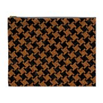 HOUNDSTOOTH2 BLACK MARBLE & RUSTED METAL Cosmetic Bag (XL) Front