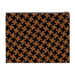 HOUNDSTOOTH2 BLACK MARBLE & RUSTED METAL Cosmetic Bag (XL) Back