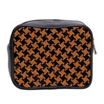 HOUNDSTOOTH2 BLACK MARBLE & RUSTED METAL Mini Toiletries Bag 2-Side Back