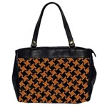 HOUNDSTOOTH2 BLACK MARBLE & RUSTED METAL Office Handbags (2 Sides)  Front